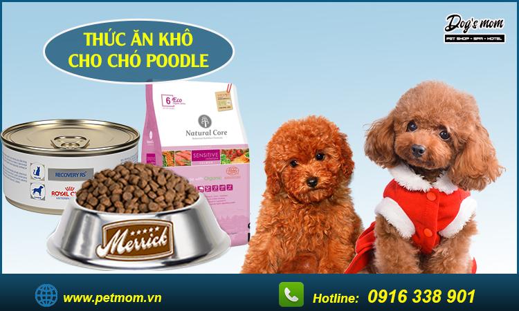 Thức ăn khô cho chó Poodle