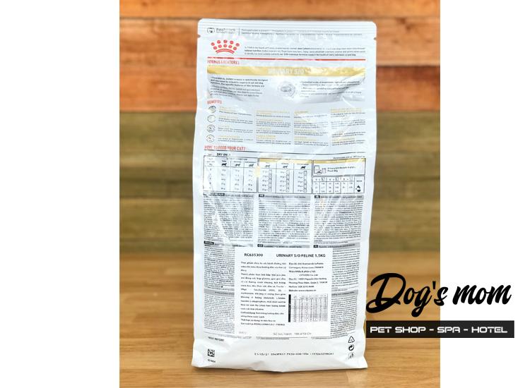 Thức Ăn RC Urinary S/O - Bệnh Sỏi Thận Cho Mèo 1,5kg