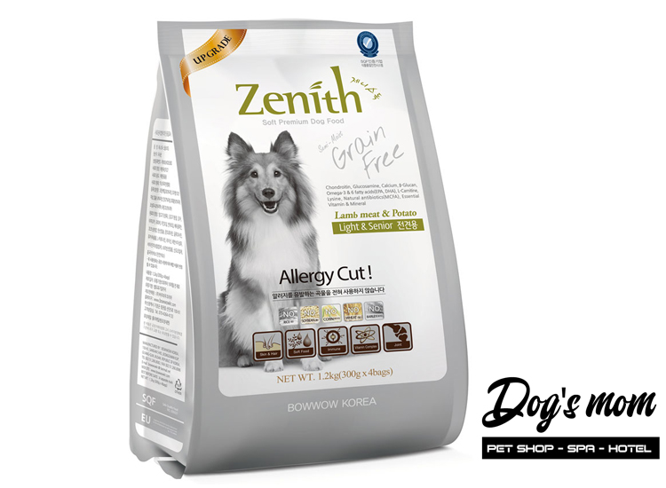 Thức ăn hạt mềm Zenith Light & Senior vị Cừu 1,2kg