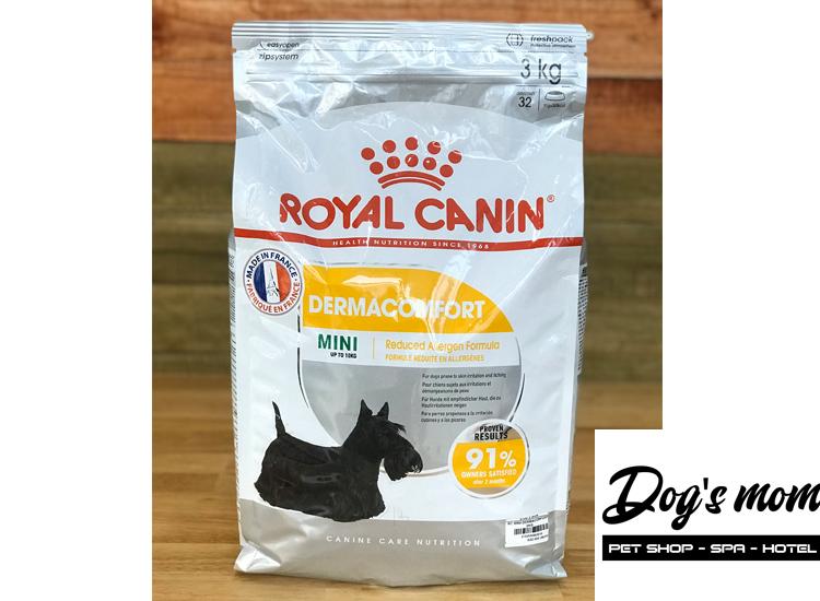 Thức ăn khô dạng Hạt cho Chó Royal Canin Mini Dermacomfort 3kg
