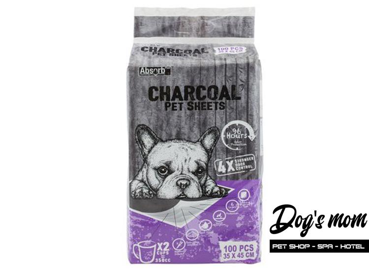 Tả Lót Than hoạt tính Absorb Plus Charcoal cho Chó Mèo 100m 35x45cm