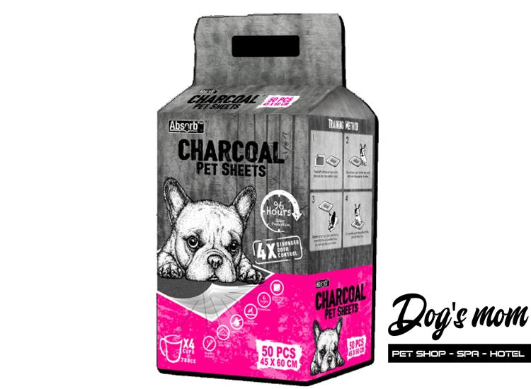 Tả Lót Than hoạt tính Absorb Plus Charcoal cho Chó Mèo 50m 45x60cm