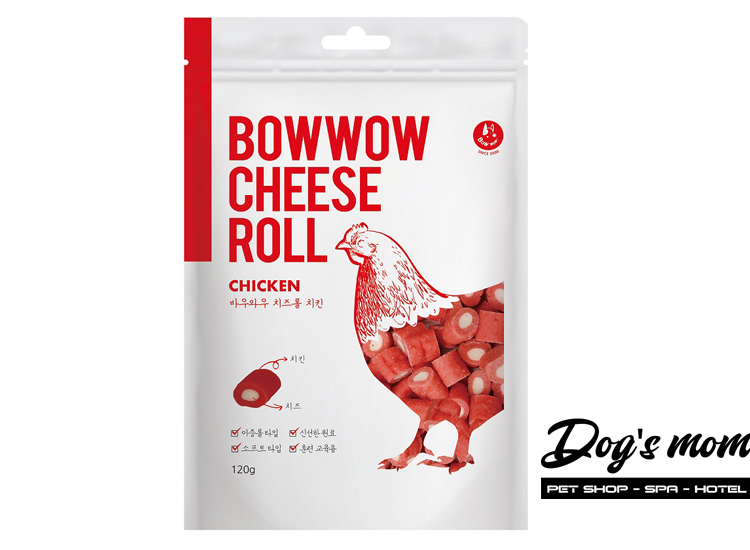 Bow Wow Cheese Roll Chicken vị gà Phô Mai 120g
