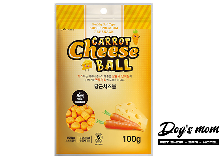 Bow Wow Carrot Cheese Ball vị Cà Rốt Phô Mai 100g