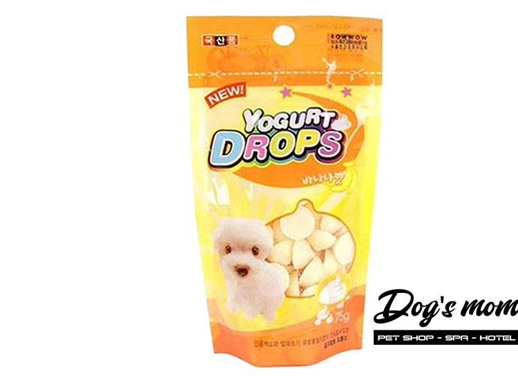 Bow Wow Yogurt Drops Banana vị Sữa Chua Chuối 75g
