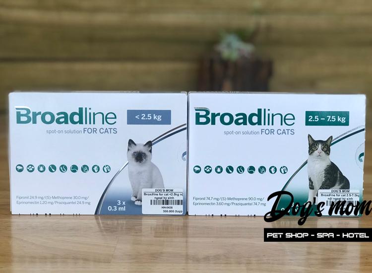 Nhỏ Gáy Broadline for Cat <2,5kg trị Nội , Ngoại ký sinh trùng