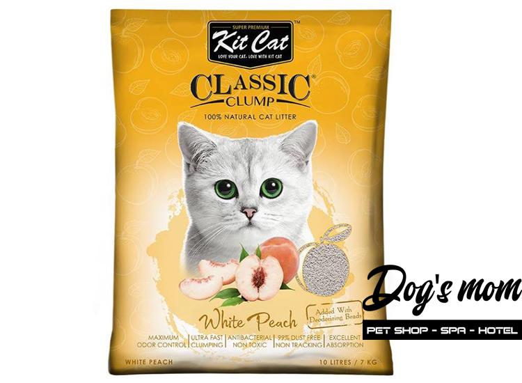 Cát Đất Sét Kitcat Classic Clump 10lít - Hương Đào