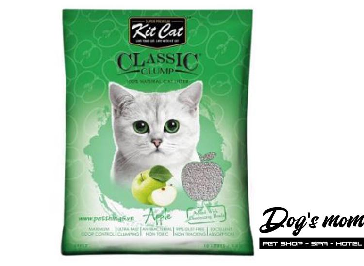 Cát Đất Sét Kitcat Classic Clump 10lít - Hương Táo