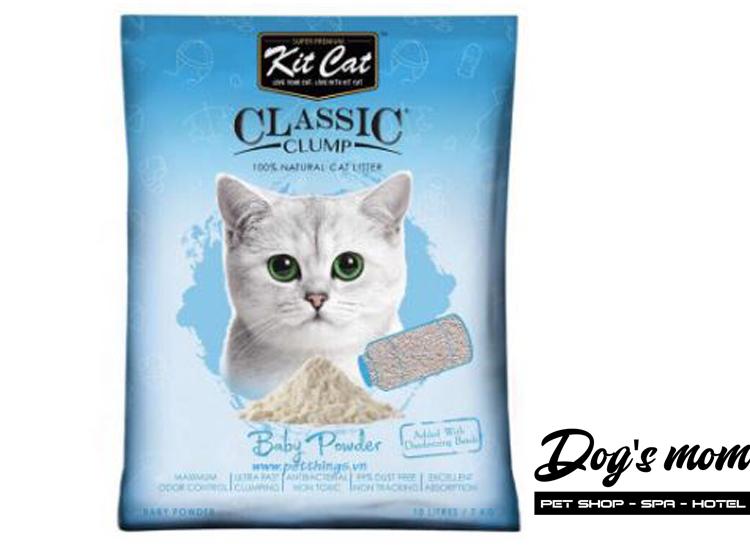 Cát Đất Sét Kitcat Classic Clump 10lít - Hương Phấn BaBy