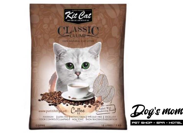 Cát Đất Sét Kitcat Classic Clump 10lít - Hương Cà Phê