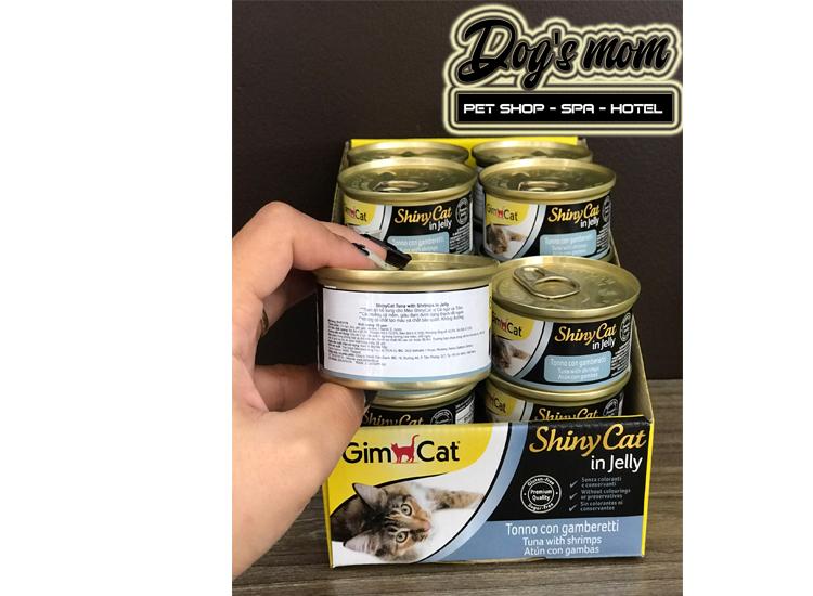 Pate Gimcat Shiny Cat in Jelly 70g - Cá Ngừ và Tôm