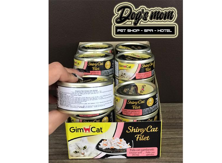 Pate Gimcat Shiny Cat Filet 70g - Gà và Tôm