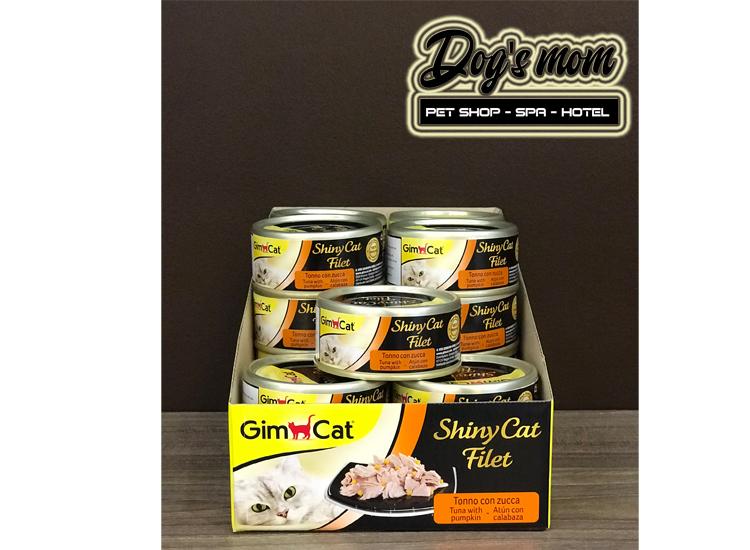 Pate Gimcat Shiny Cat Filet 70g - Cá Ngừ và Bí Đỏ