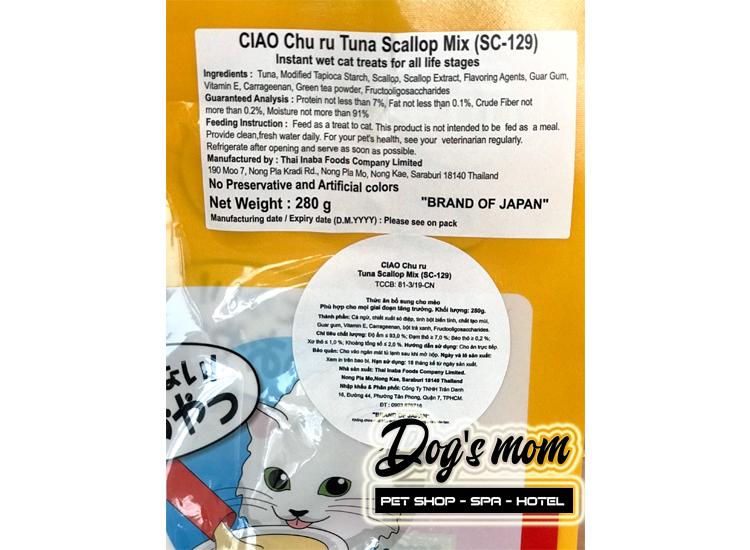 Ciao Chu Ru Tuna Scallop Mix 14gx20 - Cá Ngừ và Sò Điệp Mix
