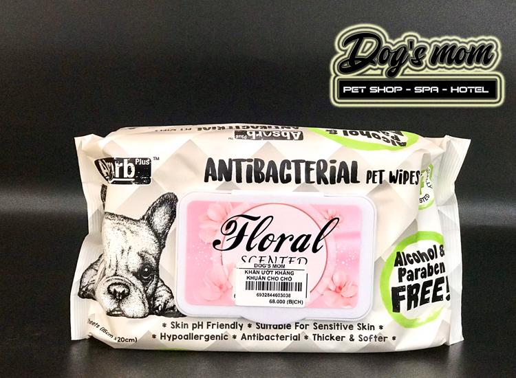 Khăn Giấy Ướt Kháng Khuẩn Antibacterial Pet Wipes - Hương hoa